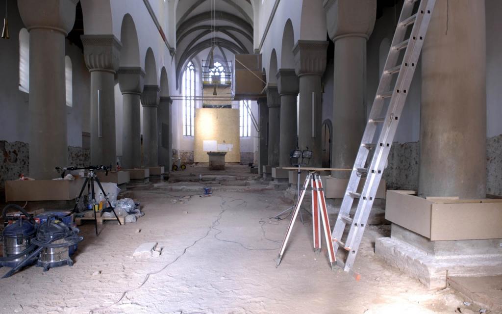 Erneuerung des Fußbodens mit überraschendem Fund.