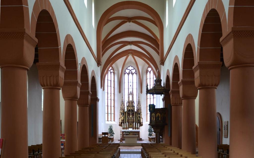 Der reale Innenraum nach der Renovierung, Blickrichtung Osten. Es hat sich gelohnt.